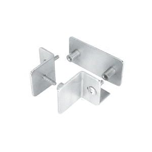 CRL PB009BS Brushed Stainless Bullet Resistant Protective Barrier System Bottom Mount T-Clamp
