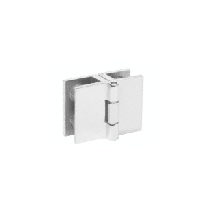 "CRL EH188 Chrome 1"" Glass-to-Glass Out-Swing Set-Screw Hinge"