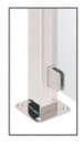"""CRL SA96FBS Brushed Stainless 1/4"""" Closed Bottom Left Hand Flat Base Glass Clip"""