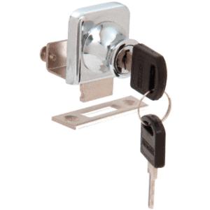 """CRL LK342 Chrome Lock for 3/8"""" Glass Door - Randomly Keyed"""