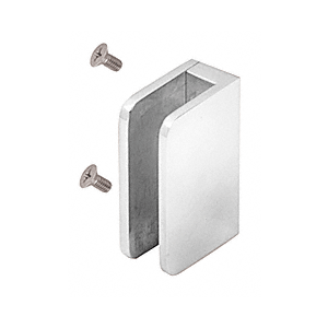 "CRL SA87FPS Polished Stainless 3/8"" Top Flat Base Glass Clip"