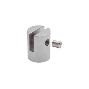 "CRL SM14SC Satin Chrome Slot Mount Standoff for 1/4"" Panels"