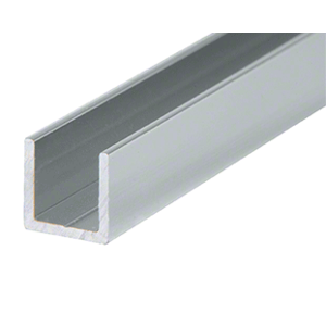 "CRL D321A Satin Anodized 3/8"" Single Aluminum U-Channel"