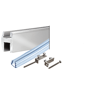 "CRL SDH660BA Brite Anodized 66"" Deluxe Shower Door Header Kit"