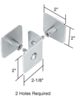 CRL PB010SC Satin Chrome Bullet Resistant Protective Barrier System Top or Mid-Mount Buttress or Baffle Clamp