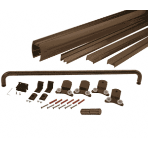 "CRL DK3872720RB Oil Rubbed Bronze 72"" x 72"" Cottage DK Series Sliding Shower Door Kit With Metal Jambs for 3/8"" Glass"