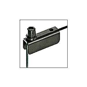 CRL GDH5BL Black Standard Mount Glass Door Hinge