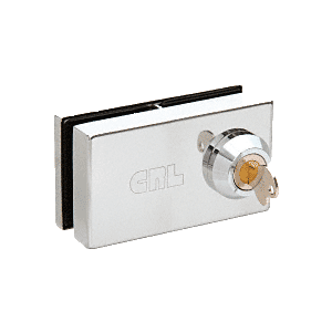 "CRL 01P38 Chrome Deluxe Patch Lock for 3/8"" Glass"