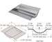 """CRL T18SS Brushed Stainless Deluxe 18"""" Wide x 14-1/8"""" Deep x 2-3/8"""" High Brushed Stainless Drop-In Deal Tray"""