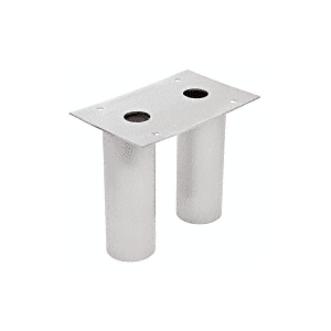 CRL SPS6R Brushed Stainless Steel Round Post Support
