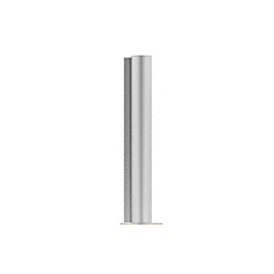 "CRL PP0818EBS Brushed Stainless 18"" Round PP08 Elegant Series Counter/Partition End Post"