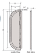 """CRL 933A Satin Anodized 2-5/8"""" x 16"""" Deluxe Mail Slot With Glass Channel Bar Without Latch"""
