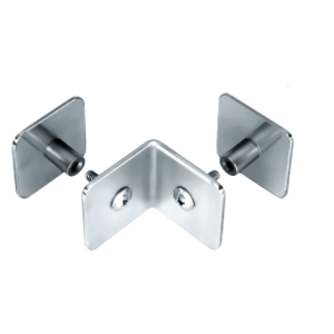 CRL PB002PS Polished Stainless Bullet Resistant Protective Barrier System 90 Degree Top or Mid-Mount Outside Clamp