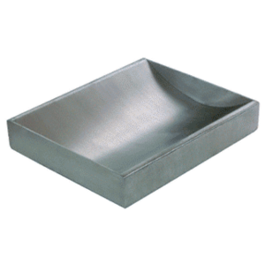 "Brushed Stainless Steel 12"" Wide x 10"" Deep x 2"" High Standard Counter Top Deal Tray"