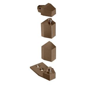 CRL 0P27NHDU Dark Bronze Offset Reversible Pivot Set Flush with Frame Face