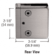 """CRL Z606BN Brushed Nickel Z-Series Square Type Radius Base Zinc Clamp for 1/4"""" and 5/16"""" Glass"""