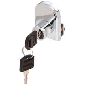 CRL LK10KA Chrome Cabinet Lock for Hinged Glass Door - Keyed Alike