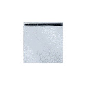 Hole In Glass Fixed Panel U-clamp With Satin Chrome Finish