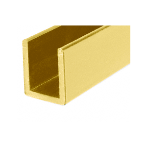 "CRL SDCD38BGA Brite Gold Anodized 3/8"" Fixed Panel Shower Door Deep U-Channel - 95"""
