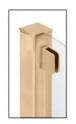 "CRL SA94FBR Polished Brass 1/4"" Top Flat Base Glass Clip"