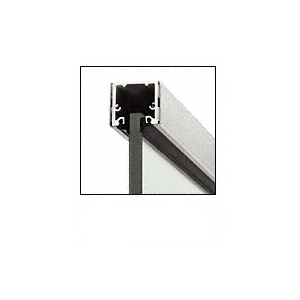 """CRL UCBS3812SL Brushed Stainless Steel 120"""" U-Channel with Roll-In Top Load Gasket"""
