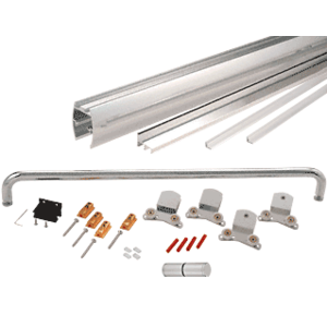 """CRL CK386080BA Brite Anodized 60"""" x 80"""" Cottage CK Series Sliding Shower Door Kit with Clear Jambs for 3/8"""" Glass"""