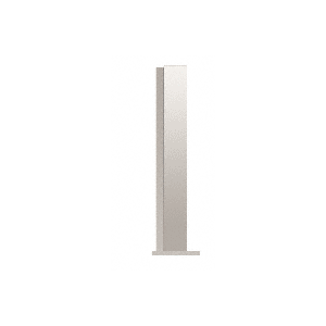 """CRL PP4318EPS Polished Stainless 18"""" High 1-1/2"""" Square PP43 Plaza Series Counter/Partition End Post"""