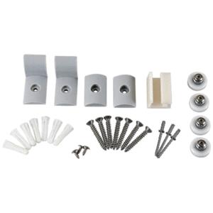 """CRL HP38BN Brushed Nickel Frameless Sliding Shower Door Hardware Package for 3/8"""" Glass"""