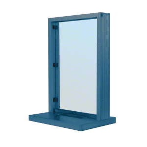 "CRL N11W18P Painted (Specify) Aluminum Narrow Inset Frame Interior Glazed Exchange Window with 18"" Shelf and Deal Tray"