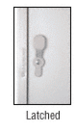 "CRL 905DU Bronze Anodized 2-5/8"" x 9-5/8"" Deluxe Mail Slot With Glass Channel Bar and Latch"