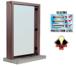 "CRL S11W12DU Dark Bronze Aluminum Standard Inset Frame Interior Glazed Exchange Window with 12"" Shelf and Deal Tray"
