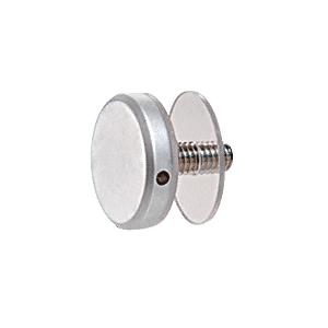"CRL CAP114SC Satin Chrome 1-1/4"" Diameter Standoff Cap Assembly"