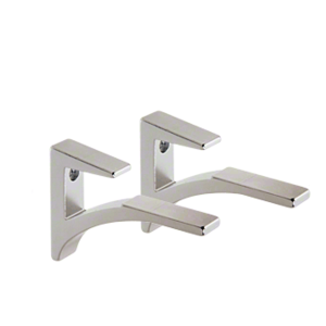 "CRL SC5CH Chrome - Aluminum Shelf Clip for 3/8"" to 1/2"" Glass"
