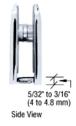 CRL R0M79CH Polished Chrome Roman Series Fixed Panel U-Clamp