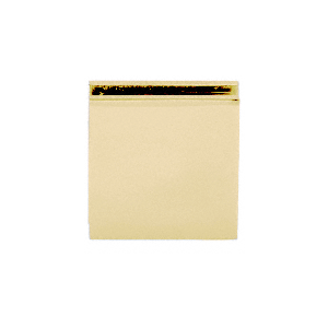 Notch In Glass Fixed Panel U Clamp With Satin Brass Finish