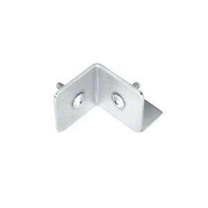 CRL PB003SC Satin Chrome Bullet Resistant Protective Barrier System 90 Degree Bottom Mount Outside Clamp