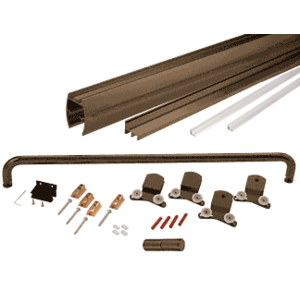 "Oil Rubbed Bronze 72"" x 80"" Cottage CK Series Sliding Shower Door Kit with Clear Jambs for 3/8"" Glass"