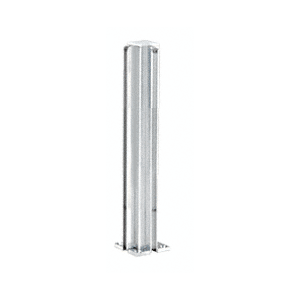 "CRL D990A24CR Satin Anodized 24"" Corner Design Series Partition Post"