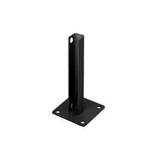 CRL PSB1ABL Matte Black AWS Steel Stanchion for 180 Degree Round or Rectangular Center or End Posts