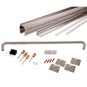 """CRL CK146060BN Brushed Nickel 60"""" x 60"""" Cottage CK Series Sliding Shower Door Kit with Clear Jambs for 1/4"""" Glass"""