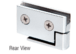 CRL FA50CH Chrome Surface Mount Cabinet Pivot Hinges