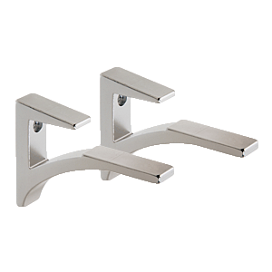 "CRL SC75CH Chrome - Aluminum Shelf Bracket for 5/8"" to 3/4"" Glass"