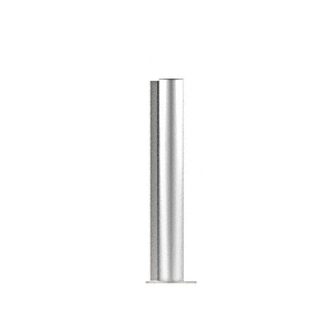 "CRL PP0824EPS Polished Stainless 24"" Round PP08 Elegant Series Counter/Partition End Post"