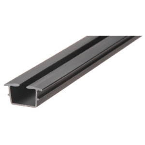 "CRL 38BV Black Bottom Vinyl for 3/8"" Monolithic and 7/16"" Thick Laminated Glass - 12'"