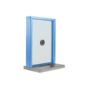 "CRL N1EW18P Painted (Specify) Aluminum Narrow Inset Frame Exterior Glazed Exchange Window With 18"" Shelf and Deal Tray"