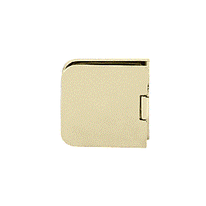 CRL UC66BR Polished Brass Junior Traditional Style Fixed Panel U-Clamp