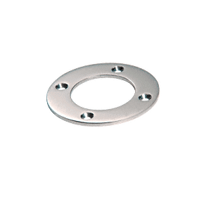 "CRL SA25PS Polished Stainless Round Base Plate for 1-1/2"" Round Tubing"