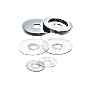 CRL 30WKSC Satin Chrome Replacement Washers for Back-to-Back Solid Pull Handle