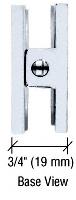 CRL R0M79SC Satin Chrome Roman Series Fixed Panel U-Clamp