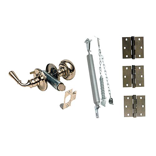 Crl K5083 Deluxe Wood Screen Door Hardware Kit